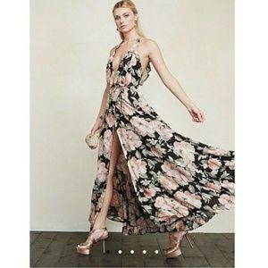 Reformation Gisele Floral Wrap Maxi Dress XS